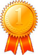 1位-金メダル-リボン付き 126x180