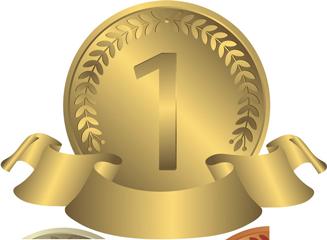 1位-金メダル