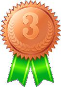 3位-銅メダル-リボン付き 126x180