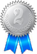 2位-銀メダル-リボン付き 126x180